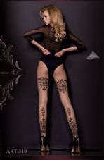 Ballerina 310 Tights Nero (Black)/Skin